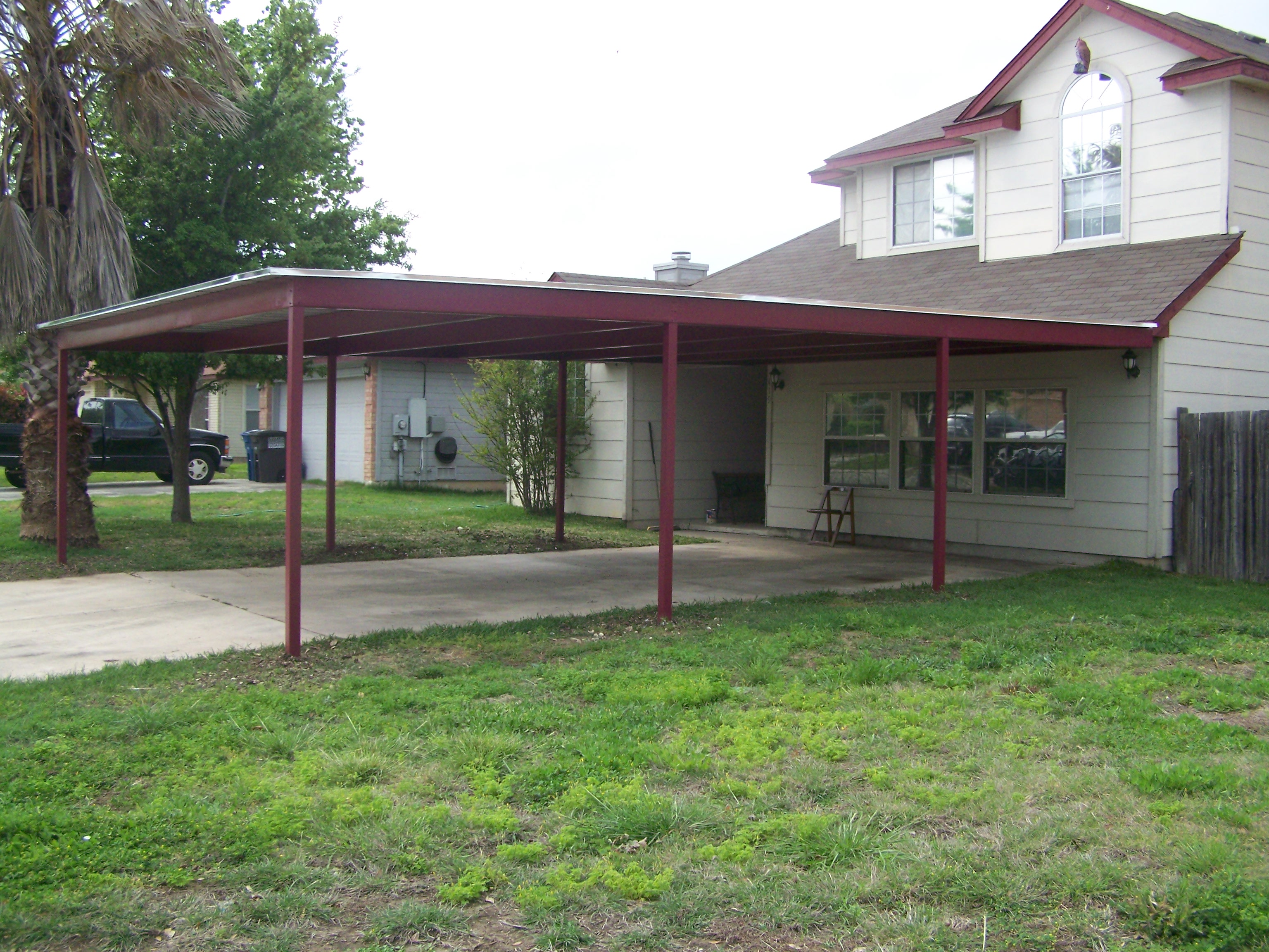 Woodwork attached metal carport pdf plans for Attached garage kits