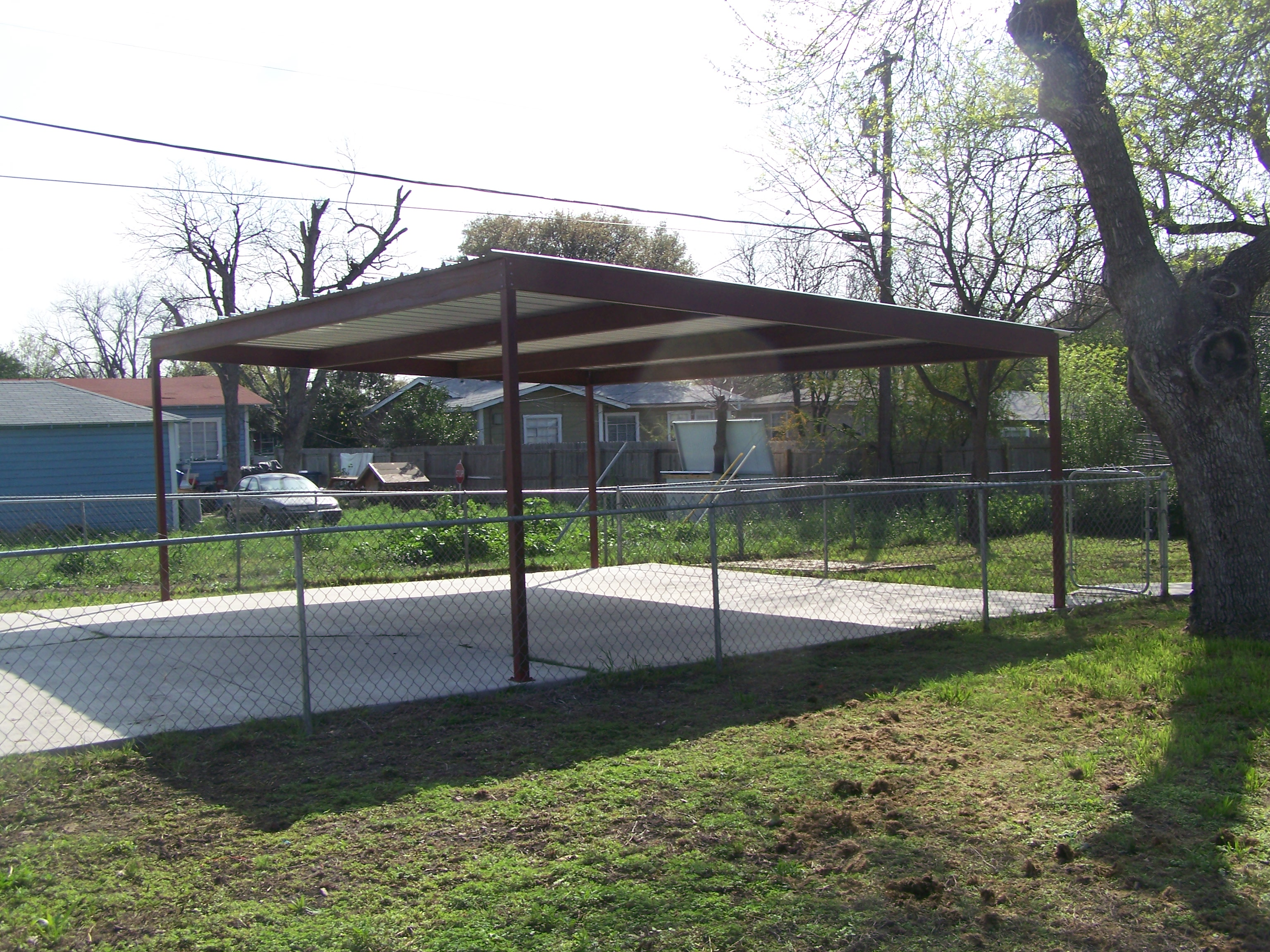 Metal Carports And Patios : Metal two car carport north central san antonio