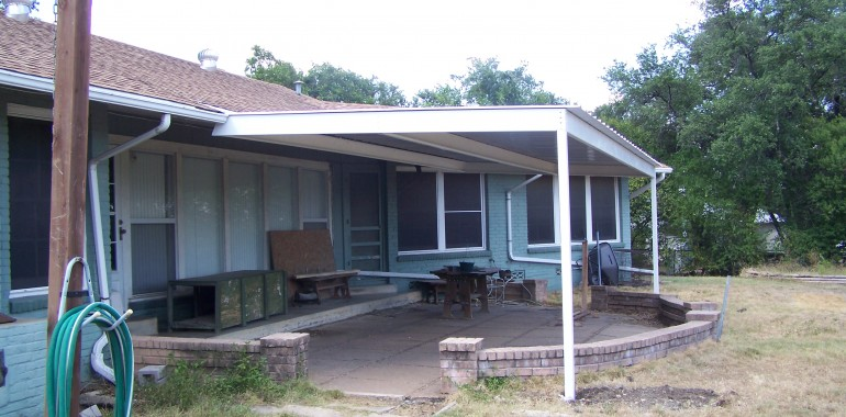 Attached Aluminum Carport Awnings : All steel attached home patio awning northwest san antonio